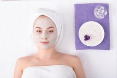 Face mask, spa beauty treatment, skincare Royalty Free Stock Photos