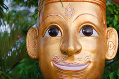 Face mask of Thai god. Mythologic creature royalty free stock photo