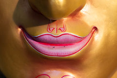 Face mask of Thai god, smile Royalty Free Stock Images