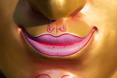 Face mask of Thai god, smile. Face mask of Thai god, mythologic creature, detail, smile Royalty Free Stock Images