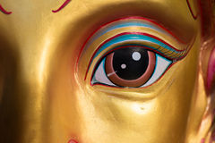 Face mask of Thai goddess. Face mask of Thai god, mythologic creature, detail royalty free stock photo
