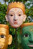 Face mask of Thai gods. Mythologic creatures Stock Photo