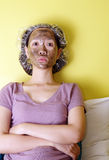 Face mask time Stock Photos