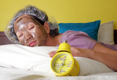 Face mask time Royalty Free Stock Image
