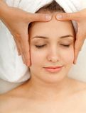Face massage Stock Image