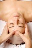 Face massage royalty free stock image