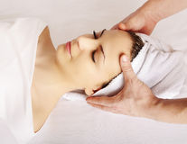 Face massage Stock Photos