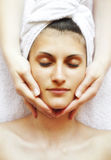 Face massage Royalty Free Stock Photos