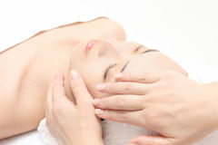 Face massage Stock Photo