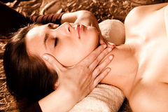 Face massage royalty free stock photography