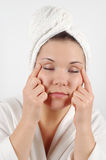 Face massage #7 Royalty Free Stock Photos