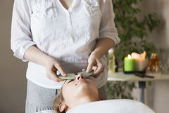 Face massage or beauty treatment in spa salon Stock Photography