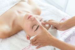 Face massage body skin care in health stock photography