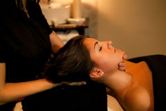 Face massage. Spa Treatment. Stock Images