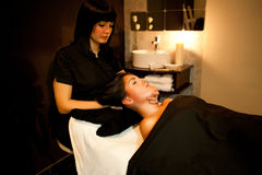 Face massage. Spa Treatment. Royalty Free Stock Photography