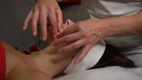 Face massage stock video footage