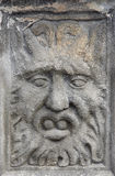 Face - medieval plastic art Stock Photos