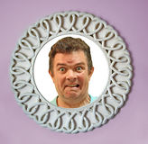 Face in mirror Royalty Free Stock Photography