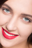 Face of model woman with clean skin Stock Images