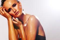 Face molhada Fotos de Stock