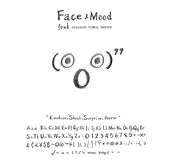 Face mood Shock Surprise Horror font Stock Images