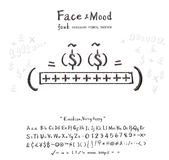 Face mood very happy font Stock Image