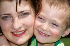 Face of the mother and son Royalty Free Stock Photos