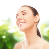 Face and neck skincare Stock Photo