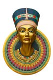Face of Nefertiti. Face of Queen Nefertiti isolated on white Royalty Free Stock Image