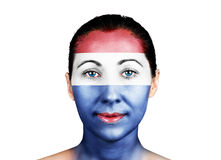 Face with the Netherlands flag Royalty Free Stock Photos