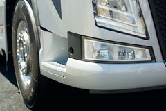 Face of new big white truck Royalty Free Stock Photography