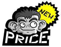 Face and new price Stock Image