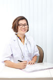 Face of nice female doctor in hospital Royalty Free Stock Photo