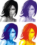 Face of nice girl background Royalty Free Stock Images