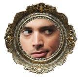 Face no frame de retrato fotografia de stock