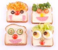 Face no pão Imagens de Stock Royalty Free