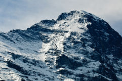 Face norte de Eiger, cumes suíços Imagem de Stock