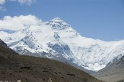 Face norte de Mt Everest Fotografia de Stock Royalty Free