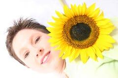 Face od a Sunflower Royalty Free Stock Photos