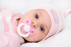 Face Of A Beautiful Newborn Girl Royalty Free Stock Photo