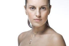 Face Of A Beautiful Woman Stock Photos