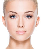 Face Of Beautiful Young Woman Stock Images