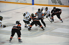 Face off in Ice Hockey Game Royalty Free Stock Images
