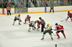 Face off in Ice Hockey Game Royalty Free Stock Image