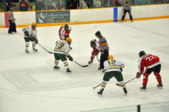 Face off in Ice Hockey Game Stock Photography