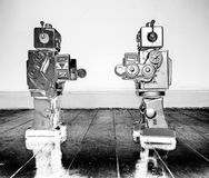 Free Face Off Robots Royalty Free Stock Image - 124123316