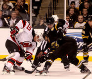 Face-off Ryan Carter New Jersey Devils Stock Image