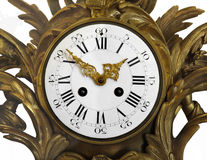 Face of a old fancy clock isolated. Royalty Free Stock Photography