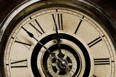 Face of Old Grandfather Clock Royalty Free Stock Images