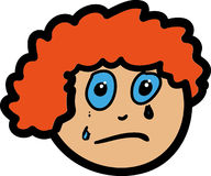 Face One Sad. Simple Illustration for portraying emotion Royalty Free Stock Photography